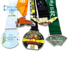 China manufacturer 3d designs metal zinc alloy diecast enamel dance gymnastics marathon running sports logo custom award medal