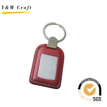 Leather Keyring with Stitching and Debossed Logo