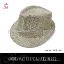 Günstige Fedora Hut für Männer weiß neu billig für Werbeartikel