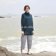 ролл шеи женщин длинные кашемировый свитер