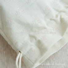 Wholesale pequeno saco de cordão de lona de algodão
