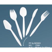 Popular PP 2,5g de peso ligero cubiertos de plástico Set / cubiertos de plástico de peso medio