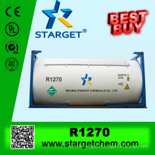 99,9% de gaz réfrigérant de pureté r1270 avec peu d'effet de serre
