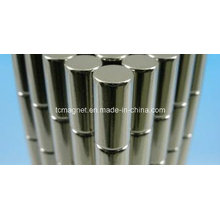 Цилиндрический редкоземельный магнит с никелевым покрытием