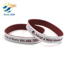 Logo personnalisé Sports Bracelet double couleur