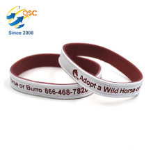 Customized logo Sports Double color bracelet