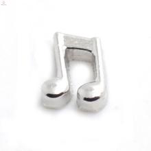 Amostra grátis encantos de música, charme pingente de prata em nota musical, música nota encantos jóias