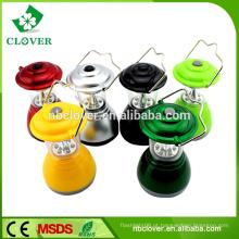Mão, usando, chinês, 6, conduzido, material, mini, lanterna, acampamento