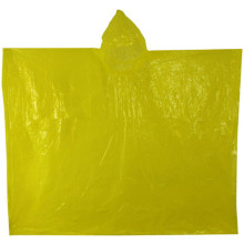 Billiga Fashion Yellow Plastic Disponibel regn Poncho