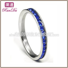 Wholesales Stainless steel zircon new design ladies finger smart wedding ring