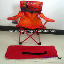 Folding cartoon kids chair with 210D carrying bag for camping