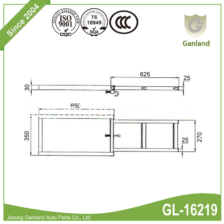 Folding ladder For trailer GL-16219