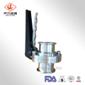 Sanitary Clamped Welded Threaded Butterfly Valve