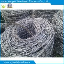 Arame farpado de dupla linha galvanizado por imersão a quente