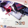 UK Design Woven Plaid Scarf Viscose