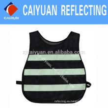 CY malla advertencia reflectante seguridad chaleco cinta tela luminiscente resplandor en la tela oscura