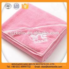 220gsm customize logo with zip pocket plain dyed towel microfiber sport
