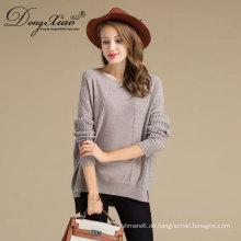 Fashion Woolen Strickwaren Großhandel Neueste Lady Heavy Knit Kabel Pullover mit Kabel