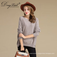 Fashion Woolen Knitwear Wholesale Latest Lady Heavy Knit Cable Sweater With Cable