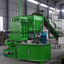 Machine horizontale d'ensachage de bois hydraulique