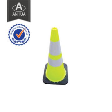 Cono de tráfico de seguridad en carretera de PVC y caucho