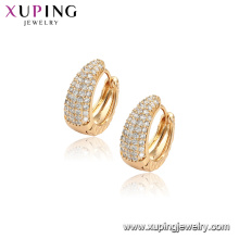 96848 xuping fashion 18K gold color hoop gold earring for women