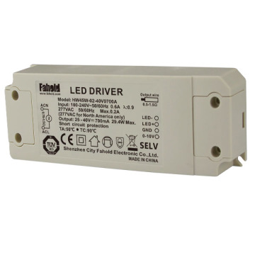 45W 0-10V Dimbaar Led Driver voor Downlights