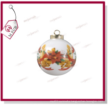 7.5cm Sublimation White Ceramic Bauble for Personalized Printing