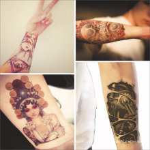 Benutzerdefinierte selbstklebende Aufkleber Tattoo Aufkleber für Männer