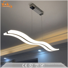 Curve Dining Room Colgante de luz LED Colgante de lámpara de acrílico