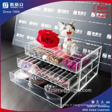 Tiroir de maquillage acrylique Yageli à 3 niveaux