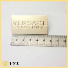 Silver zinc alloy metal label tag for bag