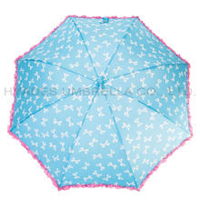 Frill Lace Cute Auto Open Kids Umbrella