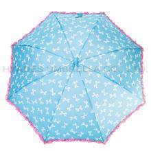 Оборка кружева милый авто открытый детский зонтик