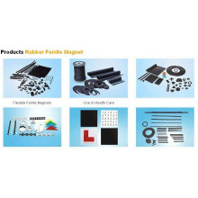 Powerful Rubber Ferrite Magnet with Great Deflective Strength for Industry