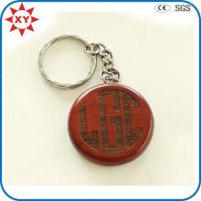 Kundenspezifische gravierte Logo-hölzerne Schlüsselkette