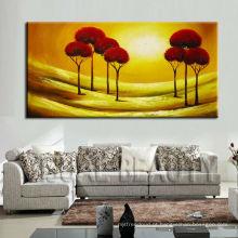 Pintura acrílica abstrata handmade nova da árvore para a decoração