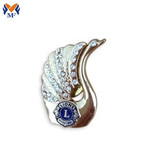 Custom design diamond decoration lapel pin badge