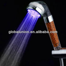 Automatic changing multi colour LED shower head