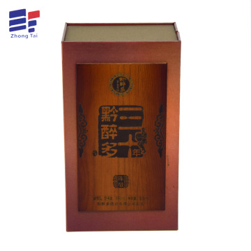 Unique Magnet Closure Foldable Book Shape wine Box
