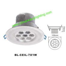 7W LED de luz LED Downlight LED de luz de techo