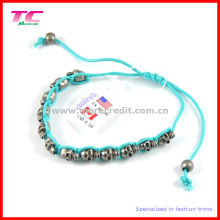 Highest Quality Shamballa Bracelet with Alloy Skull Ornament
