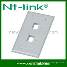 2 Port Single Gang Labels Covers and Icons cable faceplate