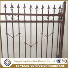 Декоративный золотой алюминиевый забор с порошковым покрытием