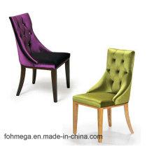 A cadeira de couro do banquete do hotel de luxo com botão adornou Foh-LC16