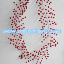 Red Crystal Beaded Branch For Wedding Decoration