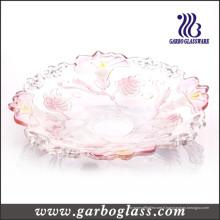 Plaque de verre avec Morning Glory Design (GB1702QN / P)