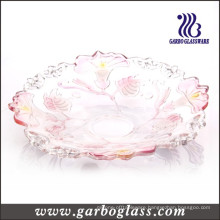 Glass Plate with Morning Glory Design (GB1702QN/P)