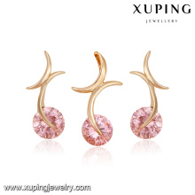 64243 fashion china wholesale special price 18k simple multicolor zircon stone gold plated jewelry sets