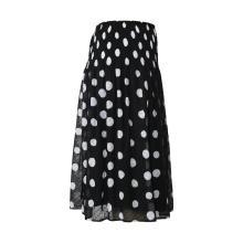 Falda de gasa plisada para mujer